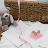 Personalised Babygrow Bear and Heart Embroidered Sleepsuit