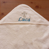 Baby Baptism Towel Christening Hooded Towel Cream