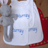 Personalised Bib Set 3 Cotton Popover Baby Bibs