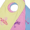 Personalised Baby Bib Name Initial Embroidery