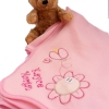 Personalised Baby Blanket Pink Baby Wrap Ladybird