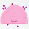 Personalised Pink Cotton Baby Hat