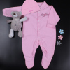 Personalised Babygrow Set White Hat and Sleepsuit Gift