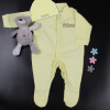 Personalised Baby Gift Yellow Sleepsuit and Hat