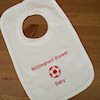 Personalised Baby Bib with Football