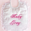 Lace Christening Celebration Bib