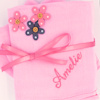 Personalised Muslin Squares Pink Cotton Muslin Set