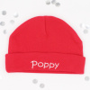 Personalised Red Cotton Baby Hat