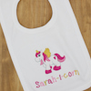 Personalised Unicorn Bib Embroidered Baby Bib