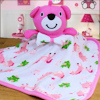 Pink Bear Comfort Blanky