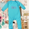 Personalised Baby Grows Teal Blue Onesie Romper Suit