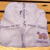 Embroidered Personalised Robe