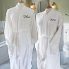 Personalised White Cotton Robes Gift Set