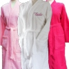 Personalised Bathrobe Ladies White Cotton Robe
