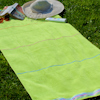 Beach Towel Personalised Lime Velour Swim Towel