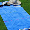 Personalised Beach Towel Blue Velour Swim Towel