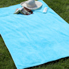 Personalised Beach Towels Aqua Blue Sunbathing Sheet