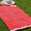 Personalised Beach Towel Red Velour Swim Towel