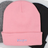 Personalised Beanie Hat Pink Cuffed Hat