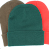 Personalised Beanie Hat Green Cuffed Hat