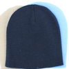 Embroidered Stretch Hat Navy Blue