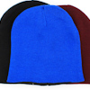 Embroidered Royal Blue Stretch Beanie