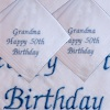 Birthday Message Pair of Handkerchiefs