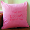Embroidered Message Cushion