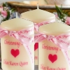 Personalised Pillar Candles Christening Baptism Confirmation Candle