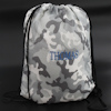 Camo PE Bag Personalised Grey Gym Sack