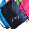 Drawstring Bags Personalised Navy Gym Bag School PE Sports