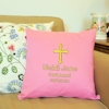 Personalised Cushions Christening Cross Embroidered Cushion