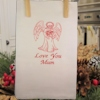 Angel Tea Towel Embroidered Personalised Kitchen Towel