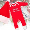 Red Santa Hat Sleepsuit Set