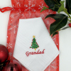 Christmas Handkerchief Personalised Hanky Christmas Tree Embroidery