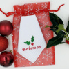 Personalised Christmas Hanky Holly Handkerchief Gift