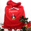 Personalised Christmas Sack Red Penguin Sack