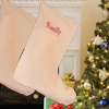 Personalised Christmas Stocking Large Natural Cotton