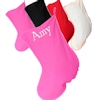 Pink Stocking Personalised Cotton Christmas Stocking