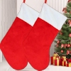 Christmas Stocking Red and White Fur 48cm Stocking