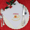 Christmas Dinner Napkin Personalised Embroidered Cloth Napkin