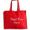 Christmas Tote Bag Personalised Red Tote Gift Bag