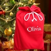 Personalised Christmas Sack Large Red Santa Sack with Name