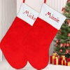 Christmas Stocking Red White 48cm