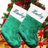 Personalised Stocking Traditional Green and White
