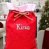 Personalised Christmas Sack Traditional Red Gift Sack