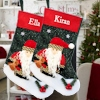 Personalised Santa Stocking Plush Santa Felt Stocking