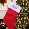 Personalised Christmas Stockings Red Felt Stocking