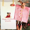 Personalised Christmas Towel Reindeer Tea Towel