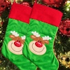 Christmas Stocking Reindeer Stocking Red Green